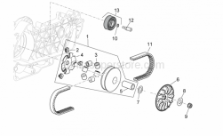 Engine - Variator Assembly - Aprilia - INNER DRIVING PULLEY