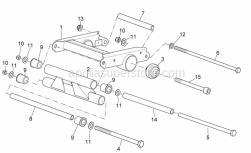 Frame - Connecting Rod - Aprilia - Frame pivot pin