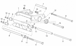 Frame - Connecting Rod - Aprilia - Engine pivot pin