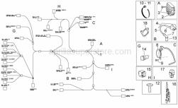 Frame - Electrical System I - Aprilia - Hose clamp