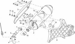 Frame - Exhaust Unit - Aprilia - TAMPONE