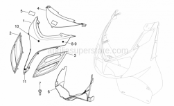 Frame - Front Body - Front Cover - Aprilia - Deflector