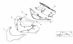 Frame - Front Body - Front Fairing - Aprilia - Front cover handlebar,black