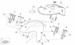 Frame - Front Body - Front Mudguard - Aprilia - Clip m5