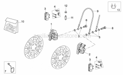 Frame - Front Caliper - Aprilia - RH front brake caliper