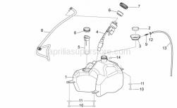 Frame - Fuel Tank - Aprilia - Phillips screw, SWP M5x20