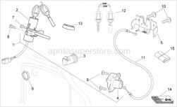 Frame - Lock Hardware Kit - Aprilia - Aprilia key w/out transpo.
