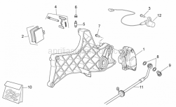 Frame - Rear Caliper - Aprilia - Rear brake caliper