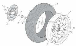 Frame - Rear Wheel - Aprilia - Rear wheel, grey