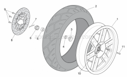 Frame - Rear Wheel - Aprilia - Brake disc D220