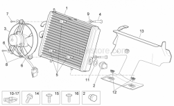 Frame - Water Cooler - Aprilia - Aluminium washer