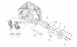 Engine - Camshaft - Aprilia - Rocker arm shaft