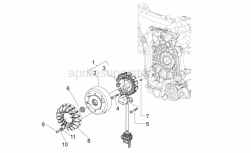 Engine - Cdi Magneto Assy - Aprilia - FAN FOR FLYWHEEL