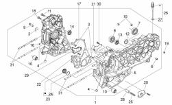 Engine - Crankcase - Aprilia - Lower oil bulkhead