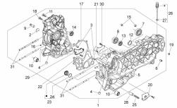 Engine - Crankcase - Aprilia - Oil pressure valve