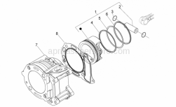 Engine - Cylinder - Aprilia - GASKET BETWEEN CYLINDER & CRANCASE 0,6
