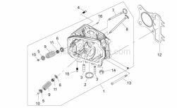 Engine - Cylinder Head - Aprilia - Stud for silencer connection