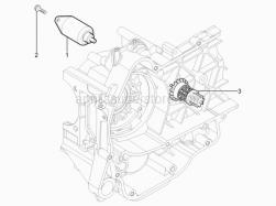 Engine - Starter Motor - Aprilia - Hex screw M6x20