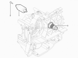 Engine - Starter Motor - Aprilia - GEAR SHAFT ASSY