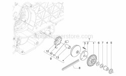 DRIVE PULLEY ASSY WITH DEFLECTOR SHEET