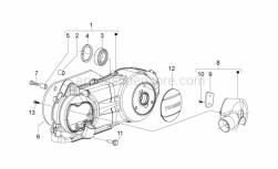 Engine - Variator Cover - Aprilia - Filtering element
