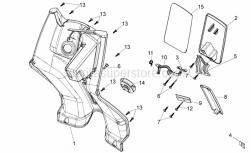 Frame - Central Body I - Aprilia - COMPLETE BAGS HOOK
