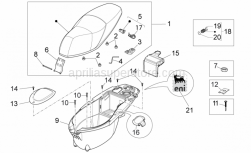 Frame - Central Body III - Aprilia - Saddle lock hardware kit