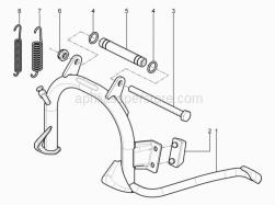 Frame - Central Stand - Aprilia - SPRING B125