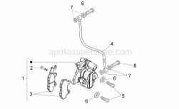 Frame - Front Caliper I - Aprilia - Front brake pipe
