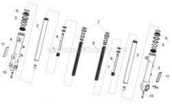 Frame - Front Fork - Aprilia - ESCORT stem