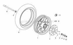 Frame - Front Wheel - Aprilia - FF BRAKE DISC RUN,HEX,SKIP