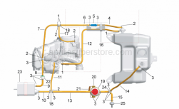 Frame - Fuel Vapour Recover System - Aprilia - pipe 3,25x8x70