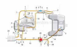 Frame - Fuel Vapour Recover System - Aprilia - pipe L=350mm
