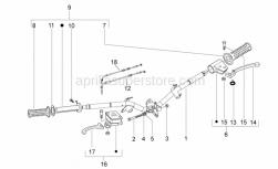 Frame - Handlebar - Aprilia - open  gas control transmission