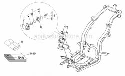 Frame - Lock Hardware Kit - Aprilia - Lock cylinder