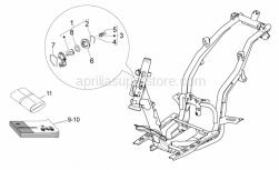 Frame - Lock Hardware Kit - Aprilia - SPRING