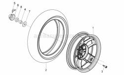 Frame - Rear Wheel - Aprilia - Cappellotto ferma dado