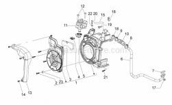 Frame - Secondary Air - Aprilia - Spring plate M6
