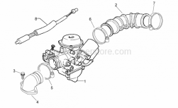 Engine - Carburettor I - Aprilia - Hose clamp
