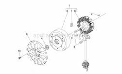 Engine - Cdi Magneto Assy - Aprilia - 50CC 4T FLYWHEEL