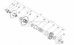 Engine - Clutch - Aprilia - CLUTCH DRUM WITH I.P.
