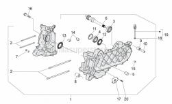 Engine - Crankcase - Aprilia - PULLEY SHAFT DNA 50 M. 2002  U