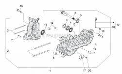 Engine - Crankcase - Aprilia - Screw w/ flange