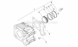 Engine - Cylinder - Aprilia - CYLINDER ASSY 50CC 4T