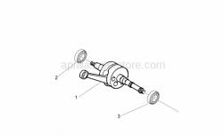 Engine - Drive Shaft - Aprilia - 50cc 4T CRANKSHAFT