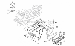 Engine - Oil Pump - Aprilia - Screw w/ flange M6x25