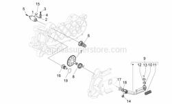 Engine - Starter Motor - Aprilia - Spring Clip holds Kickstart Gear