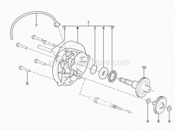 Engine - Transmission - Aprilia - WHEEL AXLE