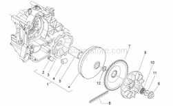 Engine - Variator - Aprilia - Half-pulley assy., driving 30 KM/H