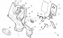 Frame - Central Body I - Aprilia - Bag holder hook